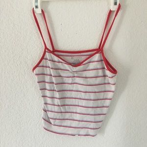 Red and White, Cropped tank top!!!